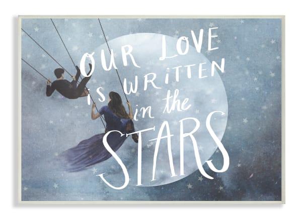 Written in the Stars Plaque Art 12.5 x 0.5 x 18.5