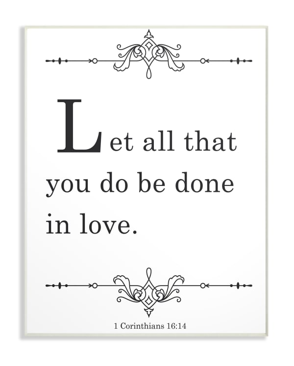 Done In Love Plaque Art, 13 x 0.5 x 19