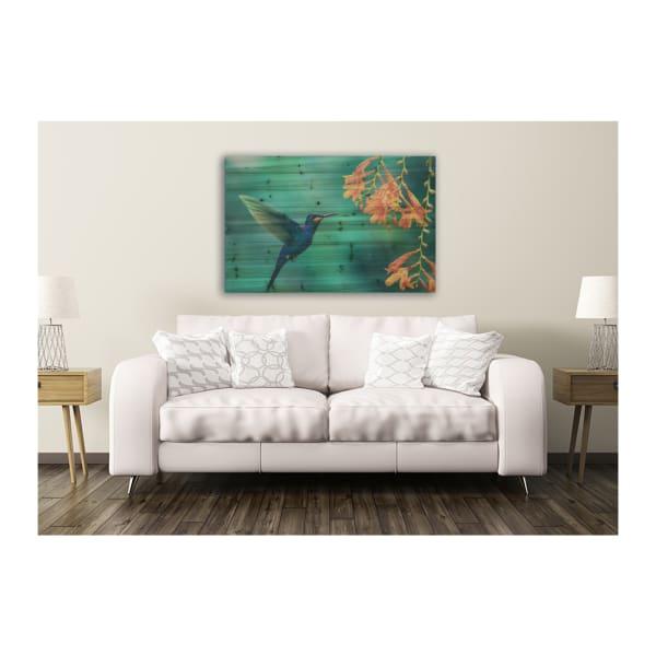 Hummingbird 24x36 Wood Wall Art