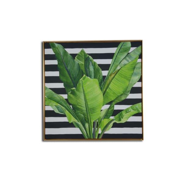 Framed Banana Leaf Wall Art