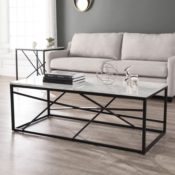 Albi Faux Marble Coffee Table