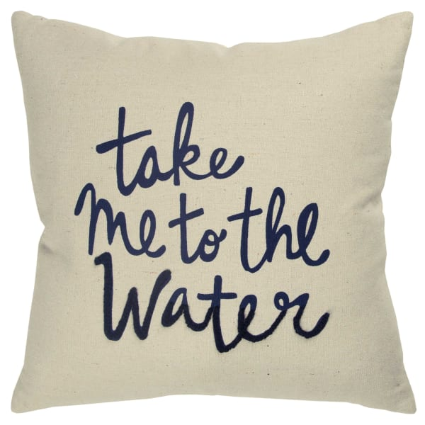 Take Me to the Water Square Pillow Cover