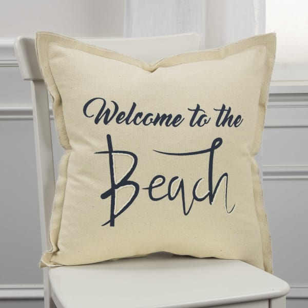 Welcome to the Beach Square Pillow Cover