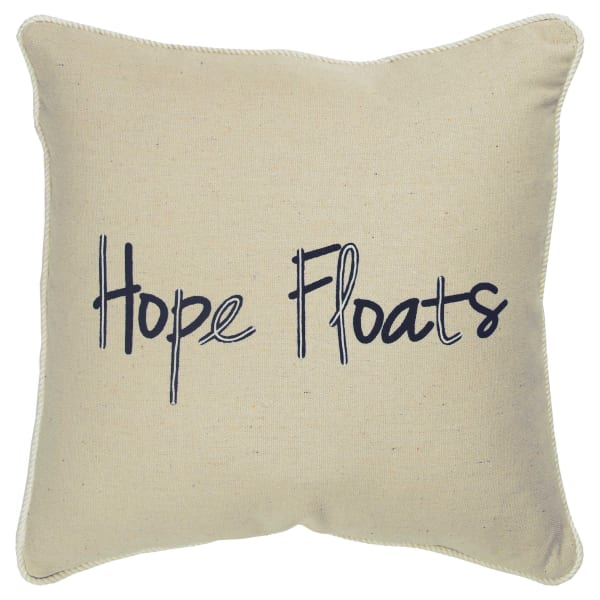 Hope Floats Square Pillow Cover