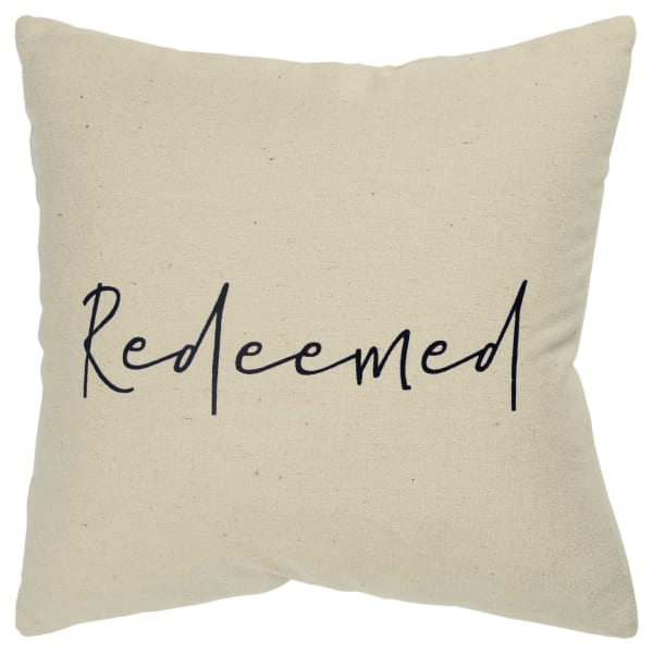 Redeemed Square Pillow Cover