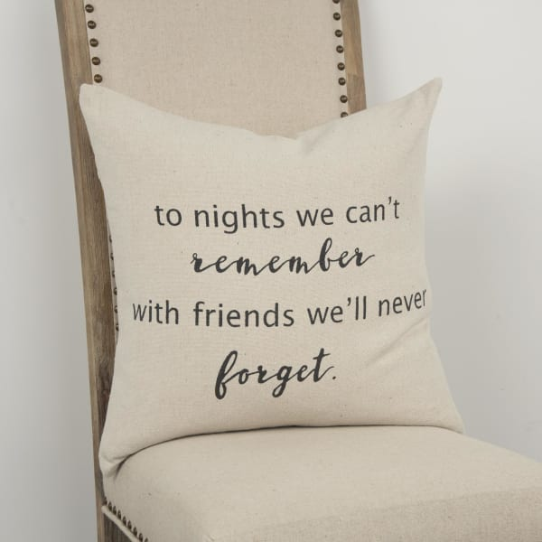 Nights and Friends Square Pillow Cover