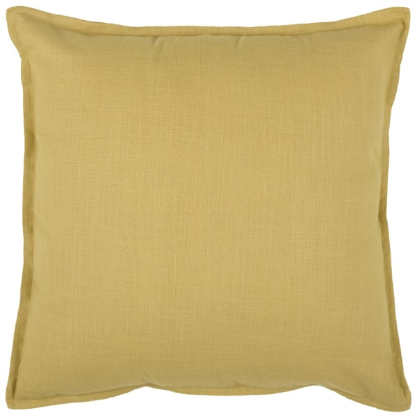 Yellow Cotton Square Pillow Cover