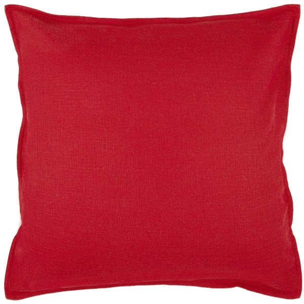 Red Cotton Square Pillow Cover