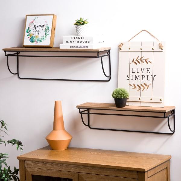 Rectangular Farmhouse Wall Shelves Set of 2