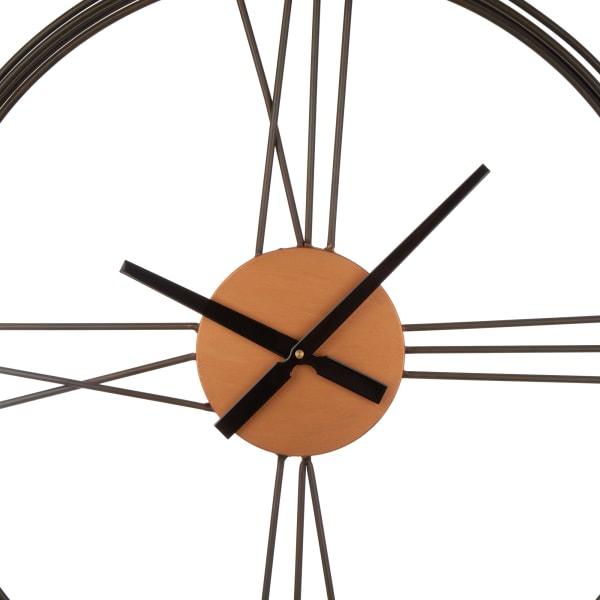 Metal and Jute Wall Clock