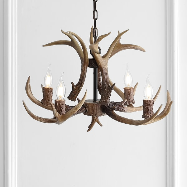 Antler Chandelier Nat 26in