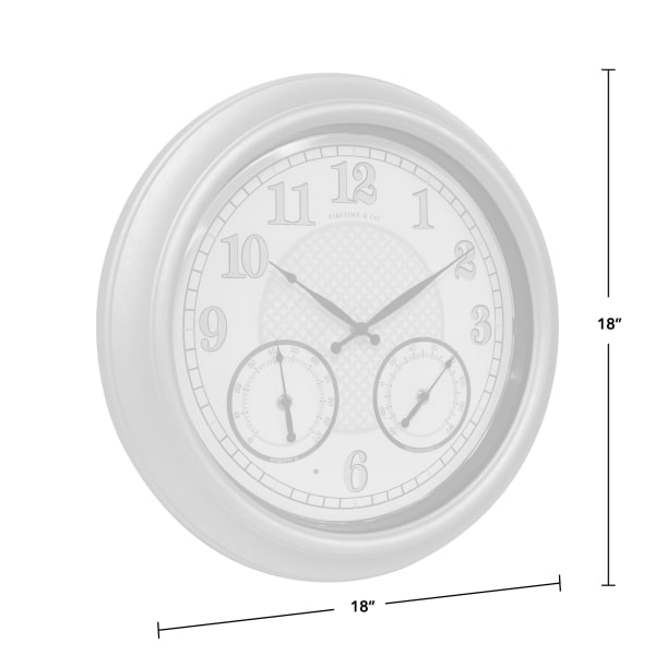 Liam Radiant LED Outdoor Clock