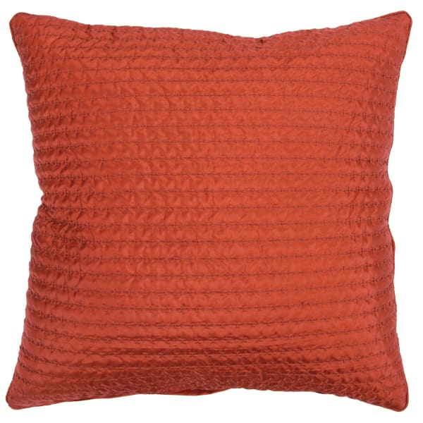Solid Rust 100% Polyester Polyfilled Pillow