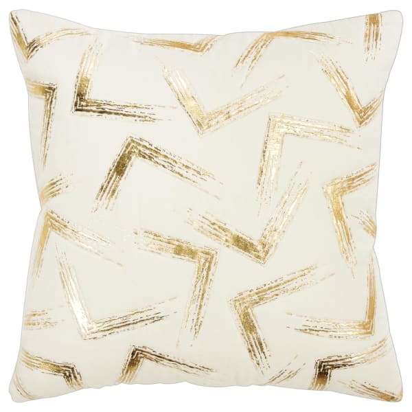 Geometric Ivory 100% Cotton Polyfilled Pillow