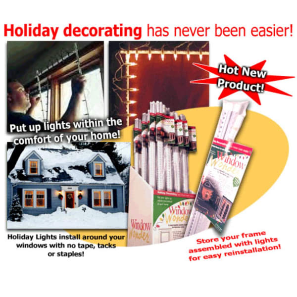 The Window Wonder For Christmas Lights - 4 Rod Pack