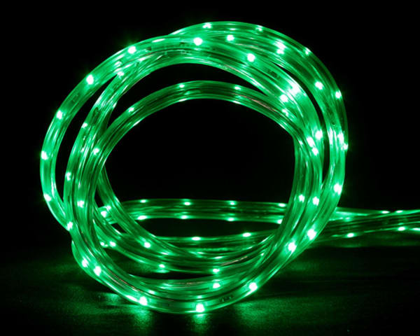 30' Green LED Indoor/Outdoor Linear Tape Lighting