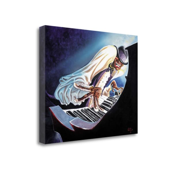 Fine Art Giclee Print on Gallery Wrap Canvas 23 In. x 18 In. Hot Keys By Steven Johnson Multi Color