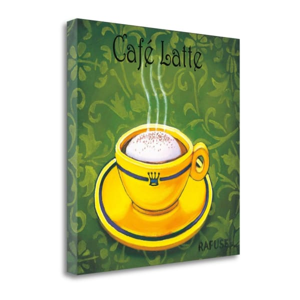 Fine Art Giclee Print on Gallery Wrap Canvas 20 In. x 20 In. Cafe Latte By Will Rafuse Multi Color