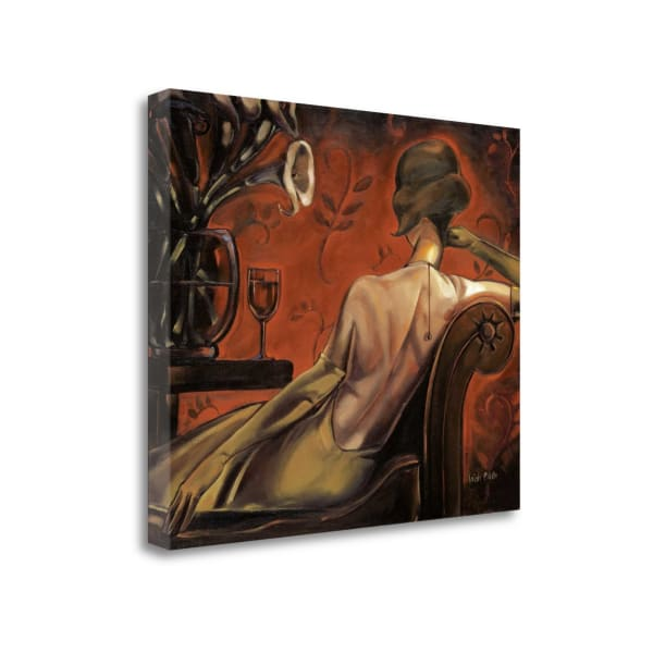 Fine Art Giclee Print on Gallery Wrap Canvas 23 In. x 19 In. Bordeaux Lounge By Trish Biddle Multi Color