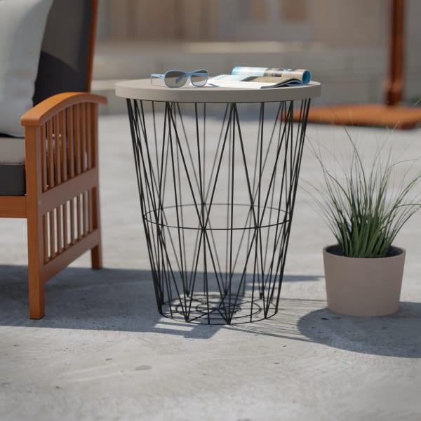 Abbett Outdoor Accent Table