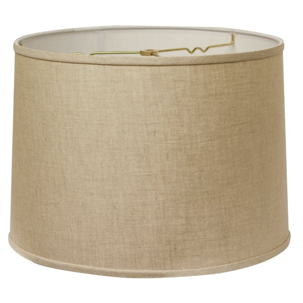 Slant Retro Drum Hardback Lampshade with Washer Fitter, Heather
