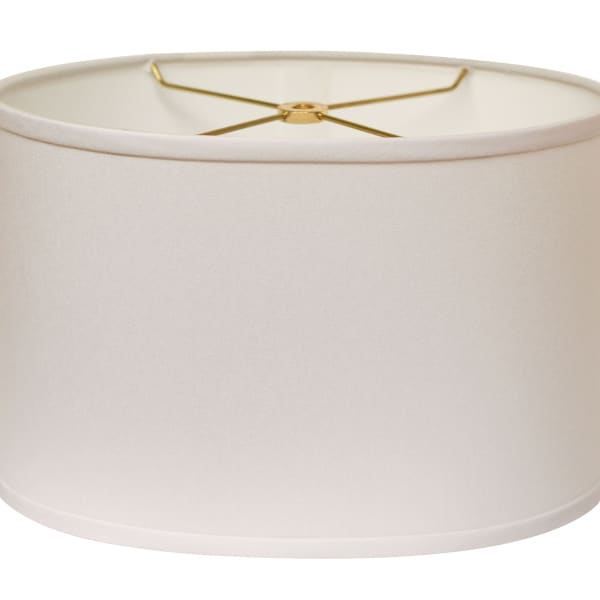 Slant Retro Oval Hardback Lampshade with Washer Fitter, White