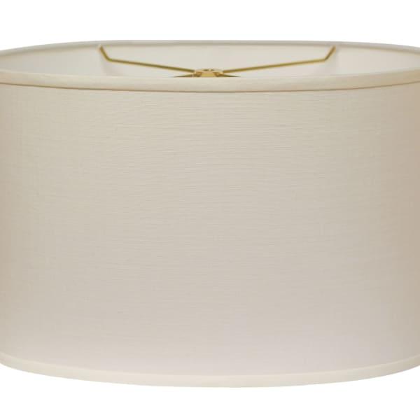 Slant Retro Oval Hardback Lampshade with Washer Fitter, White