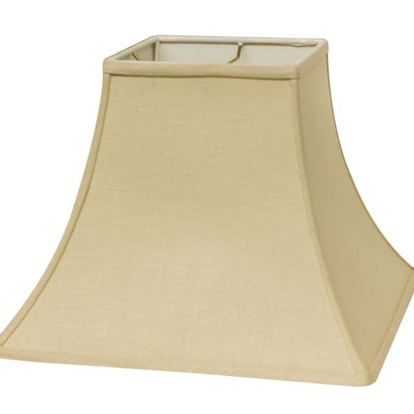 Slant Square Bell Hardback Lampshade with Washer Fitter, Beige