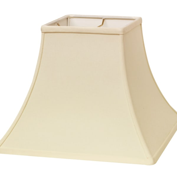 Slant Square Bell Hardback Lampshade with Washer Fitter, Egg