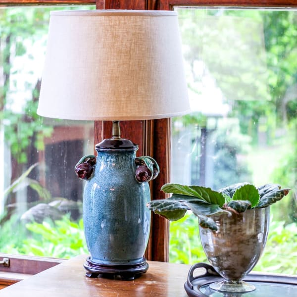 Slant Modified Empire Hardback Lampshade with Washer Fitter, Heather