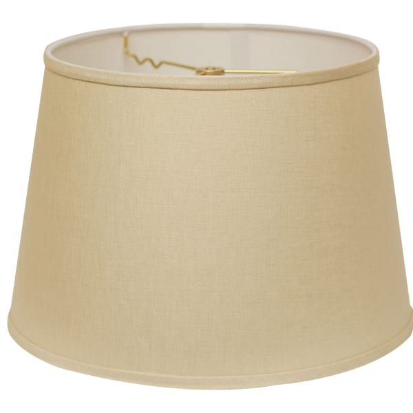 Slant Modified Empire Hardback Lampshade with Washer Fitter, Beige