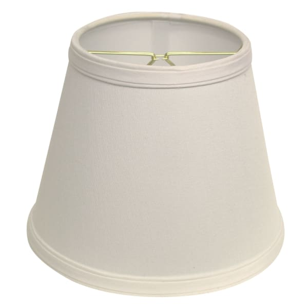 Slant Empire Hardback Lampshade with Bulb Clip, White