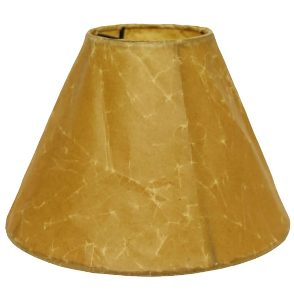 Slant Empire Softback Lampshade with Bulb Clip, Brown