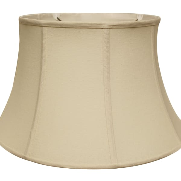 Slant Shallow Drum Softback Lampshade with Washer Fitter, Natural