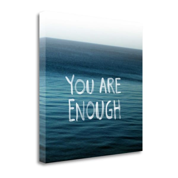 Fine Art Giclee Print on Gallery Wrap Canvas 20 In. x 20 In. You Are Enough By Linda Woods Multi Color