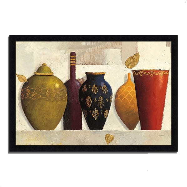 Framed Painting Print 39 In. x 27 In. Jeweled Vessels by James Wiens Multi Color