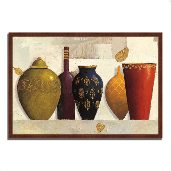 Framed Painting Print 47 In. x 32 In. Jeweled Vessels by James Wiens Multi Color