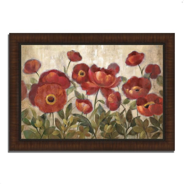 Framed Painting Print 36 In. x 26 In. Daydreaming Flowers by Silvia Vassileva Multi Color