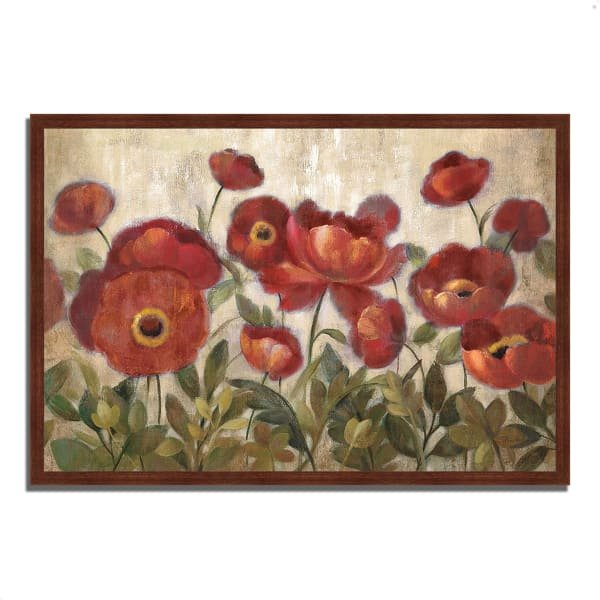 Framed Painting Print 32 In. x 22 In. Daydreaming Flowers by Silvia Vassileva Multi Color