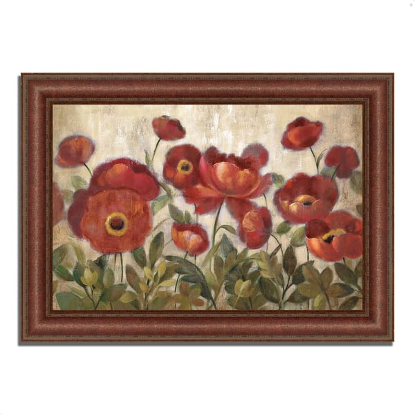 Framed Painting Print 43 In. x 31 In. Daydreaming Flowers by Silvia Vassileva Multi Color