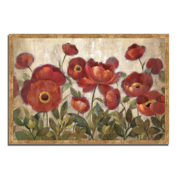 Framed Painting Print 38 In. x 26 In. Daydreaming Flowers by Silvia Vassileva Multi Color