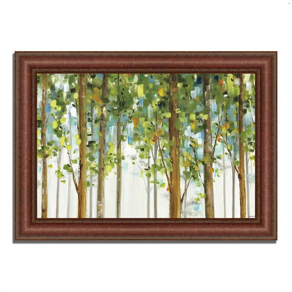 Framed Painting Print 52 In. x 37 In. Forest Study I by Lisa Audit Multi Color