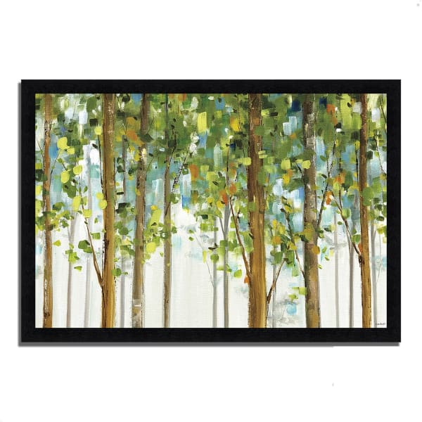 Framed Painting Print 39 In. x 27 In. Forest Study I by Lisa Audit Multi Color
