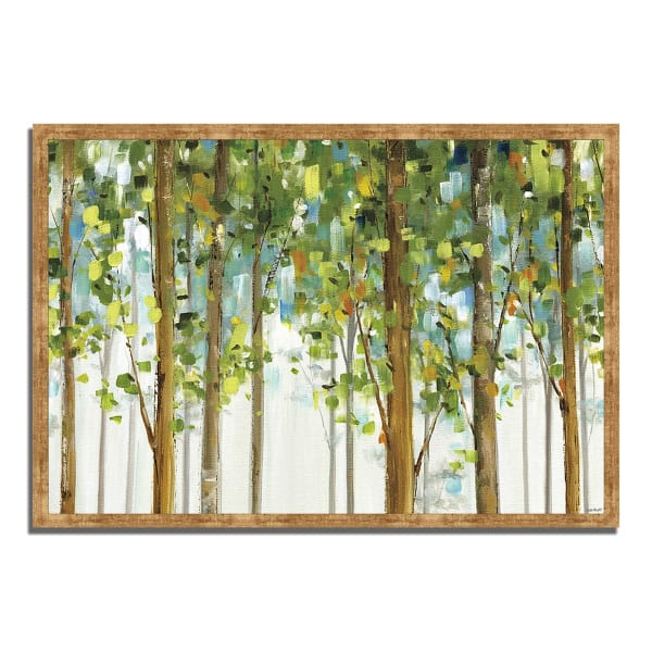 Framed Painting Print 32 In. x 22 In. Forest Study I by Lisa Audit Multi Color