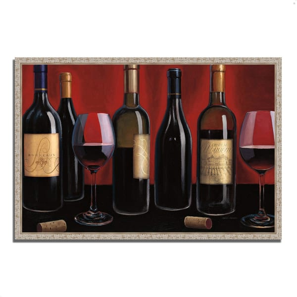 Fine Art Giclee Print on Gallery Wrap Canvas 38 In. x 26 In. Grand Reserve by Marco Fabiano Multi Color