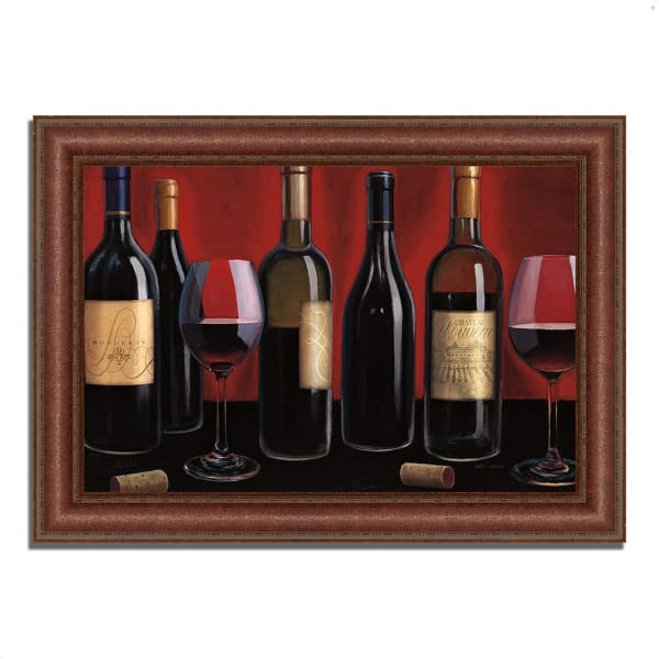 Framed Painting Print 52 In. x 37 In. Grand Reserve by Marco Fabiano Multi Color