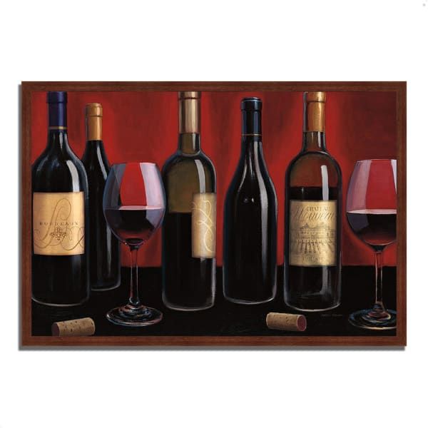 Framed Painting Print 38 In. x 26 In. Grand Reserve by Marco Fabiano Multi Color