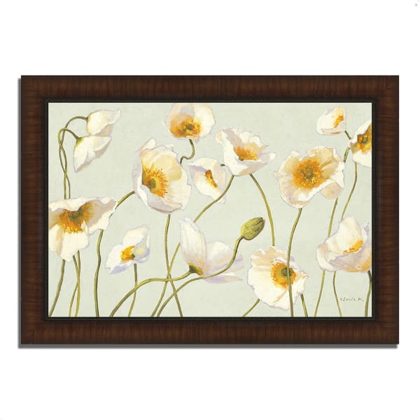 Framed Painting Print 51 In. x 36 In. White and Bright Poppies by Shirley Novak Multi Color