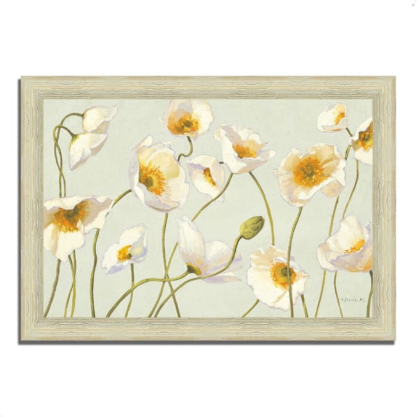 Framed Painting Print 42 In. x 30 In. White and Bright Poppies by Shirley Novak Multi Color