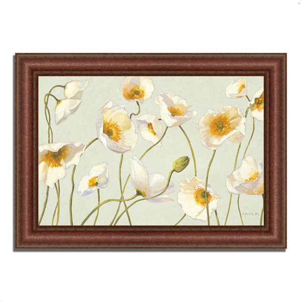Framed Painting Print 43 In. x 31 In. White and Bright Poppies by Shirley Novak Multi Color